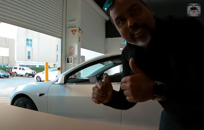 Tesla contactless delivery