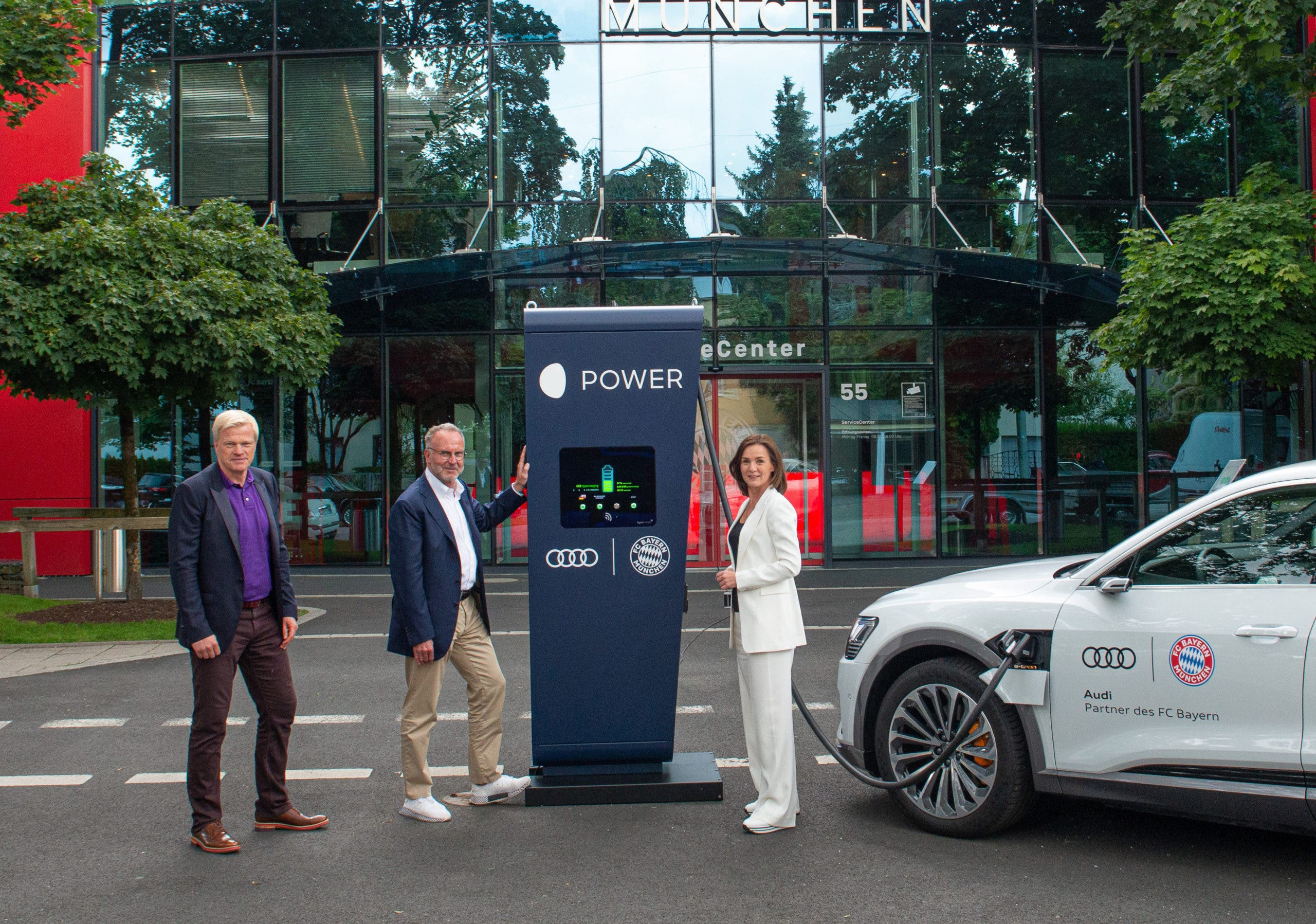 Audi Electrifies Bayern Munich Training Grounds For Team's Coming Audi e-trons