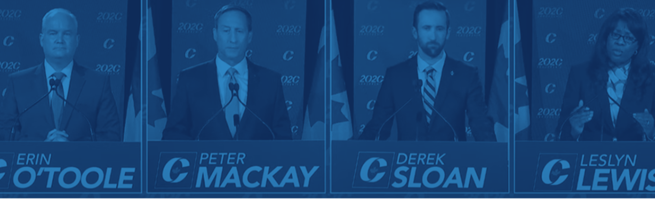 Four Conservative Party of Conservative leadership candidates