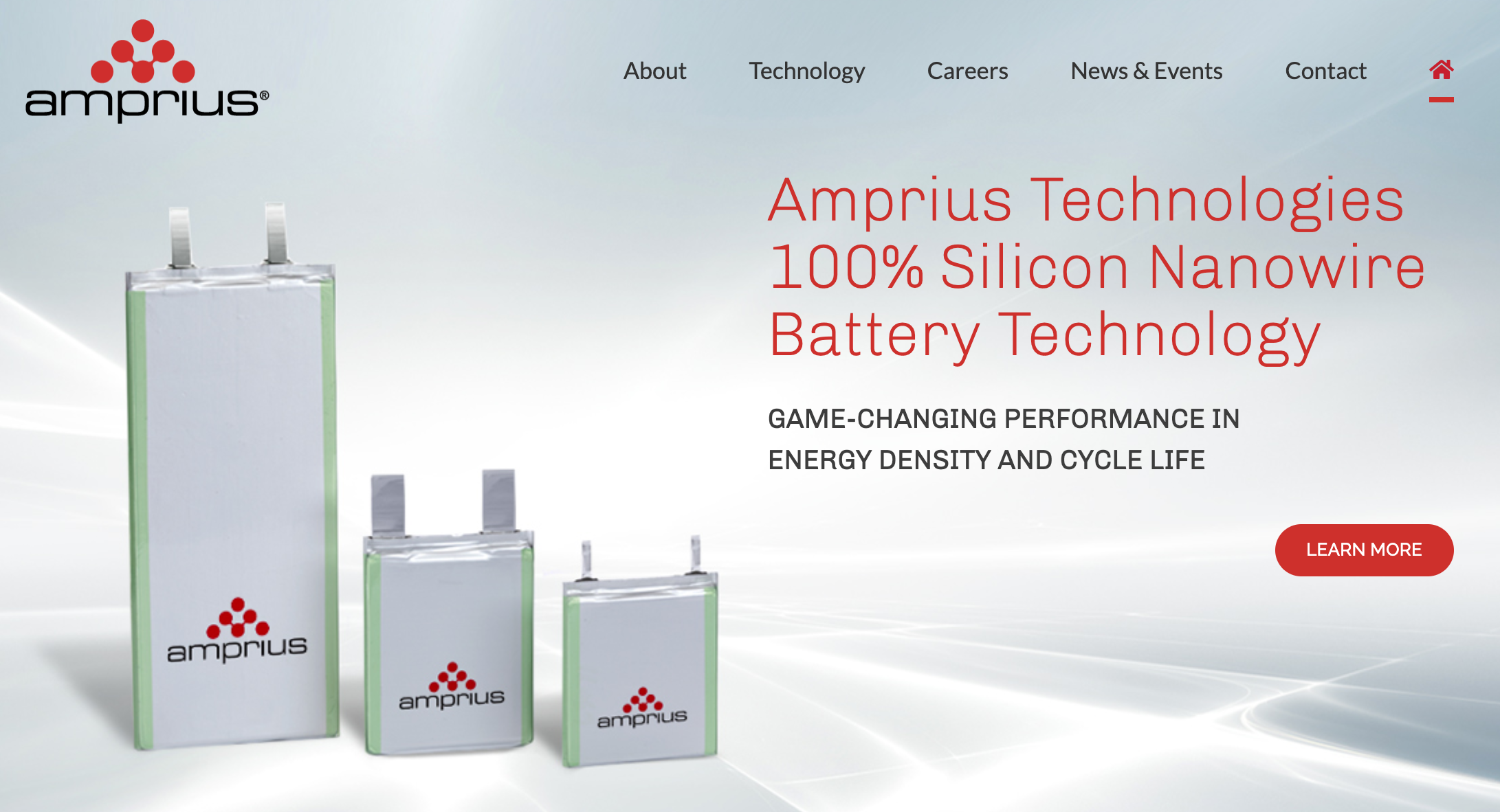 Amprius silicon nanowire battery technology