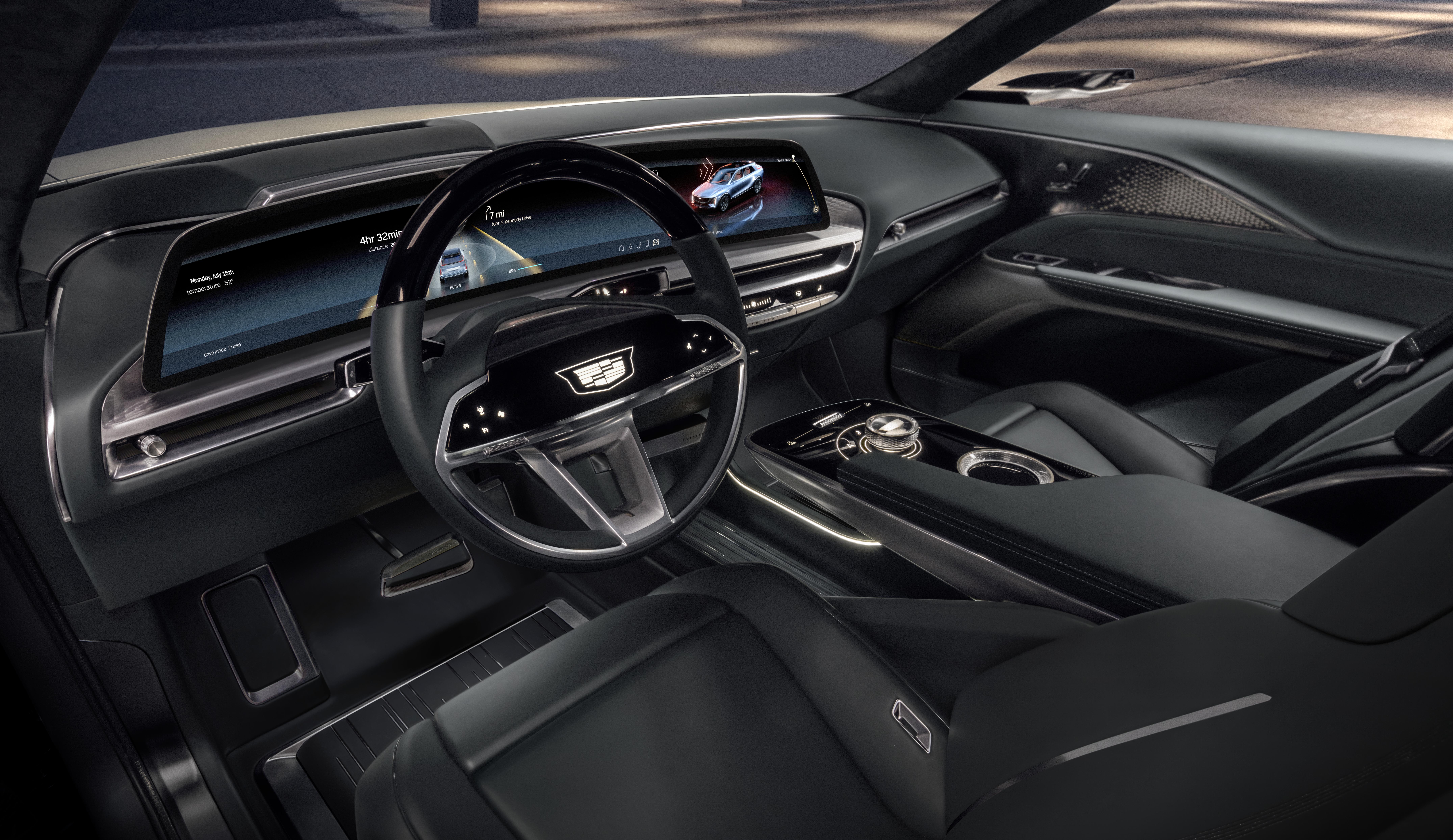 Cadillac LYRIQ interior - display cropped