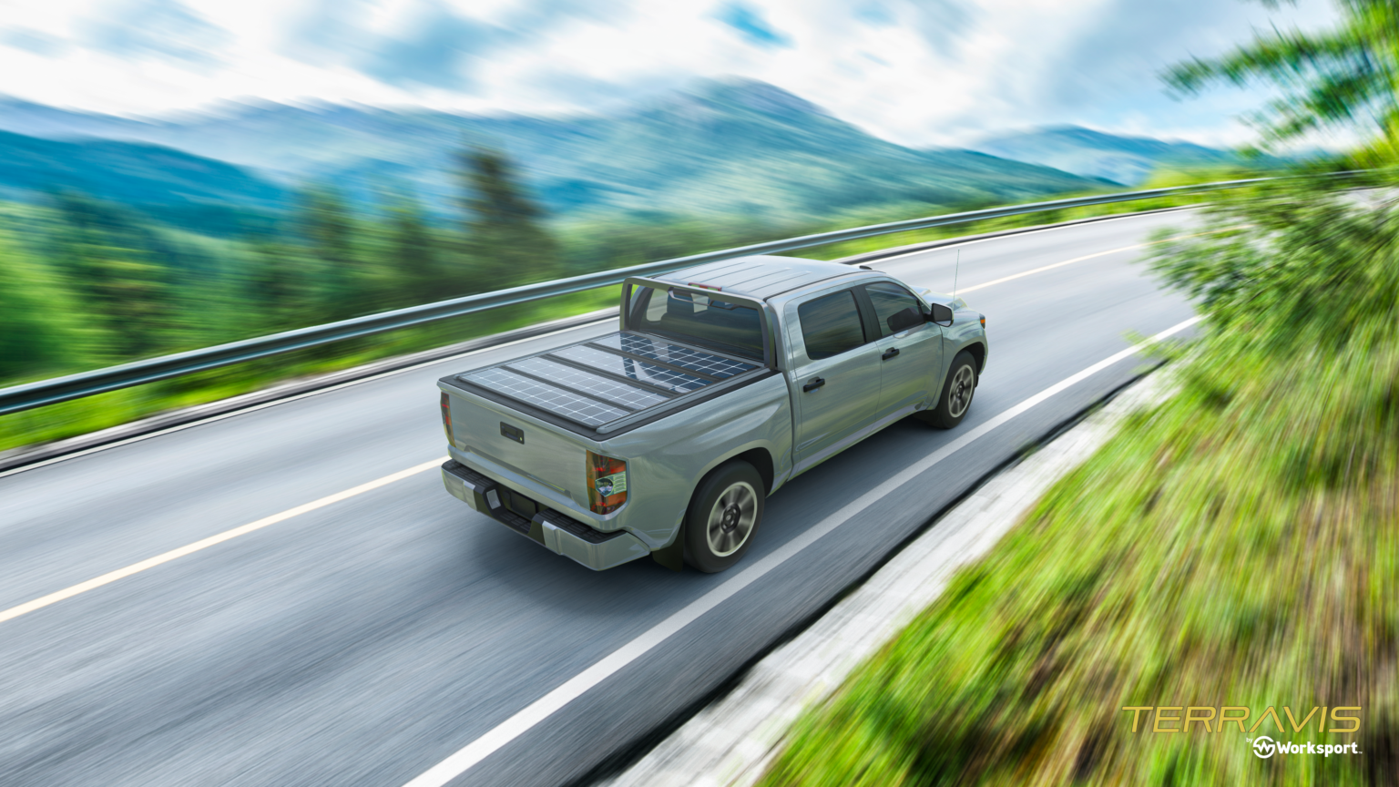 Solar Panel Tonneau Cover For Pickup Trucks