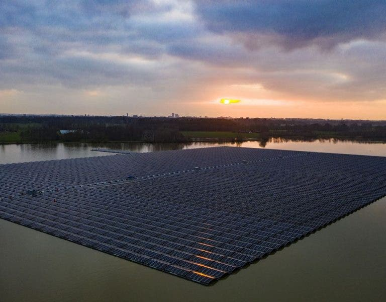 photo of Largest Floating Solar Park In Europe Connected To Grid In Netherlands image