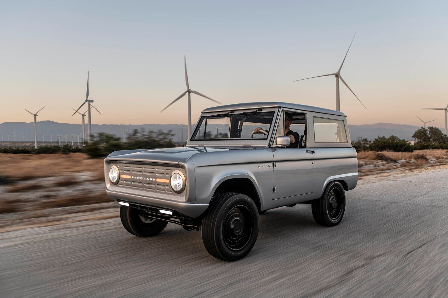 electric ford bronco - 1960s style