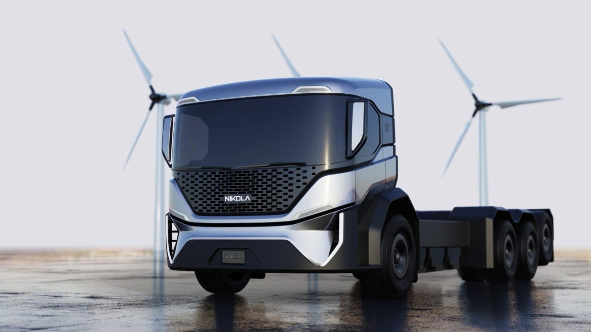 Nikola electric trash truck