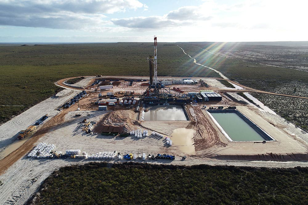 Natural gas facility in Perth Australia