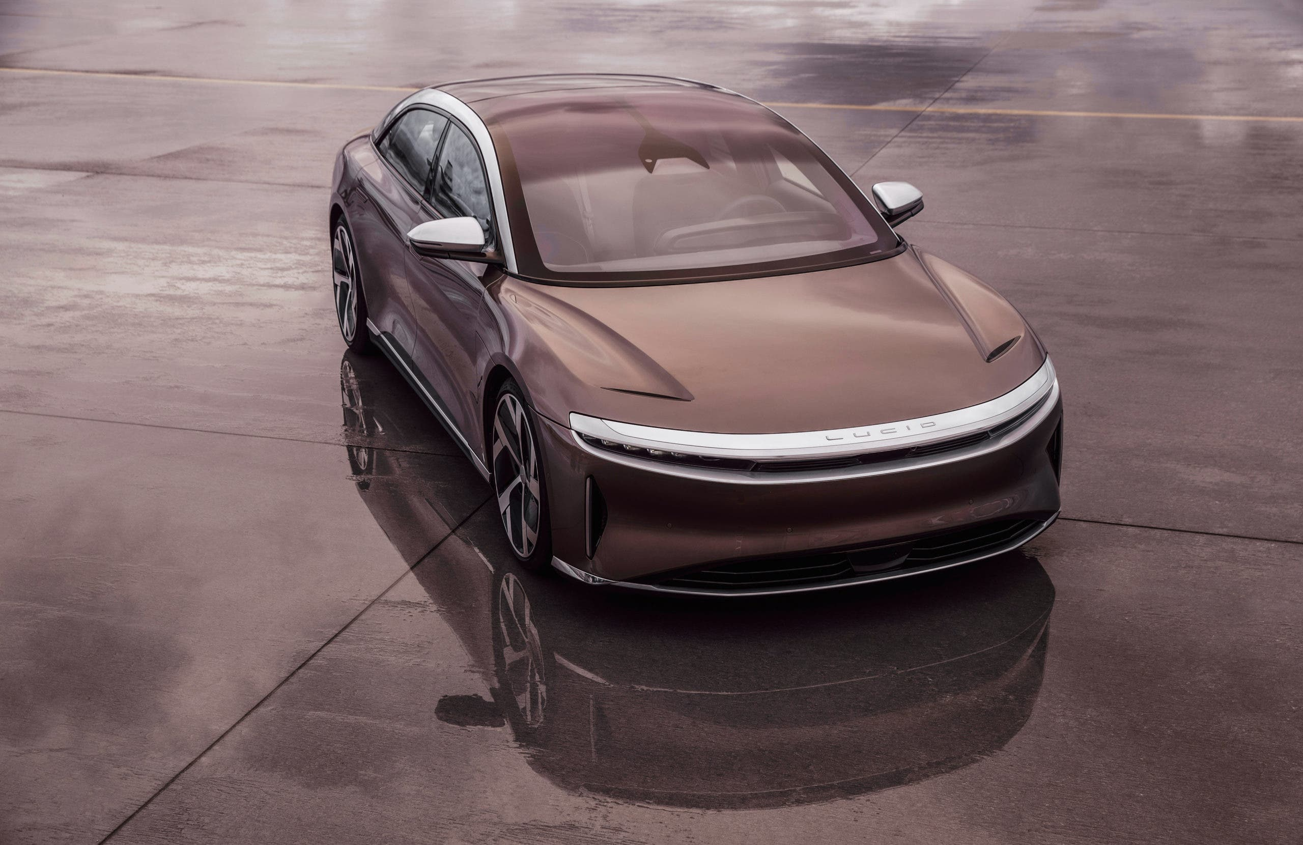 Lucid Air - front from above view