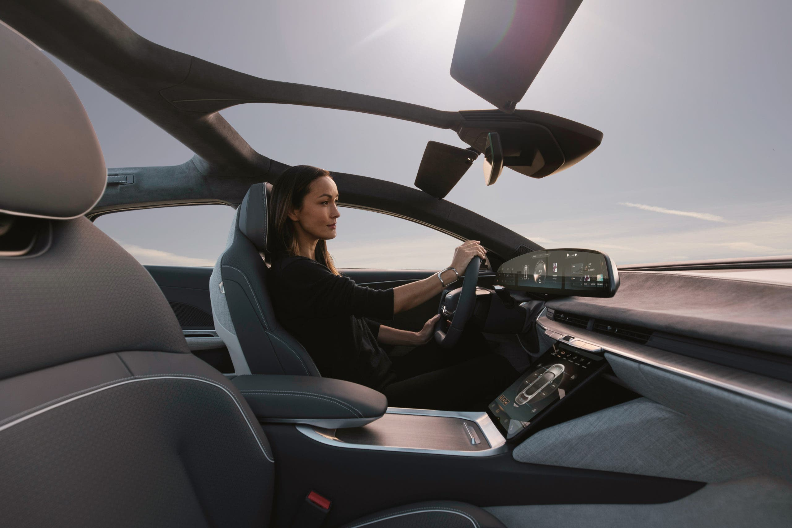 Lucid Air front seats and roof