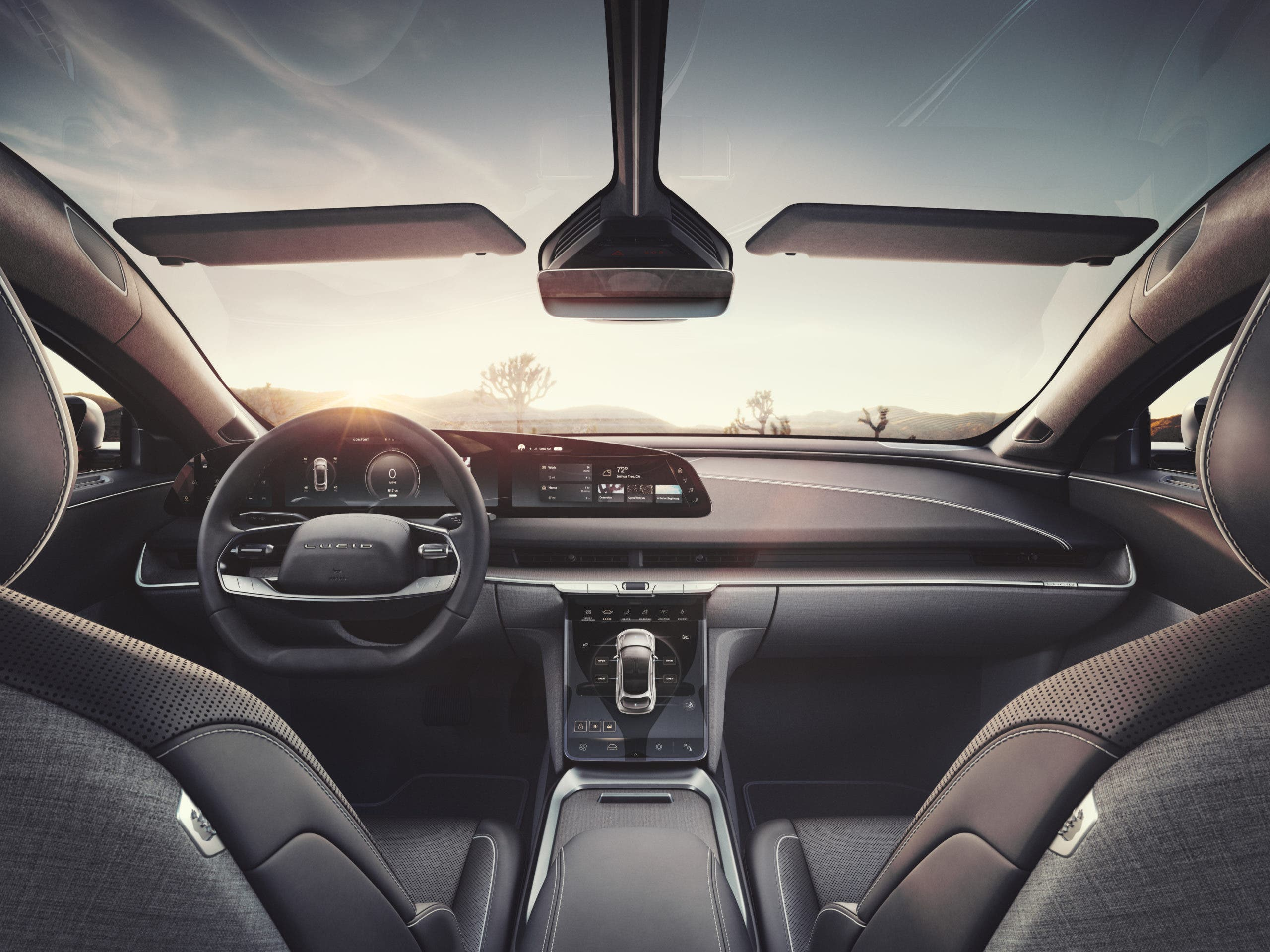 Lucid Air interior front