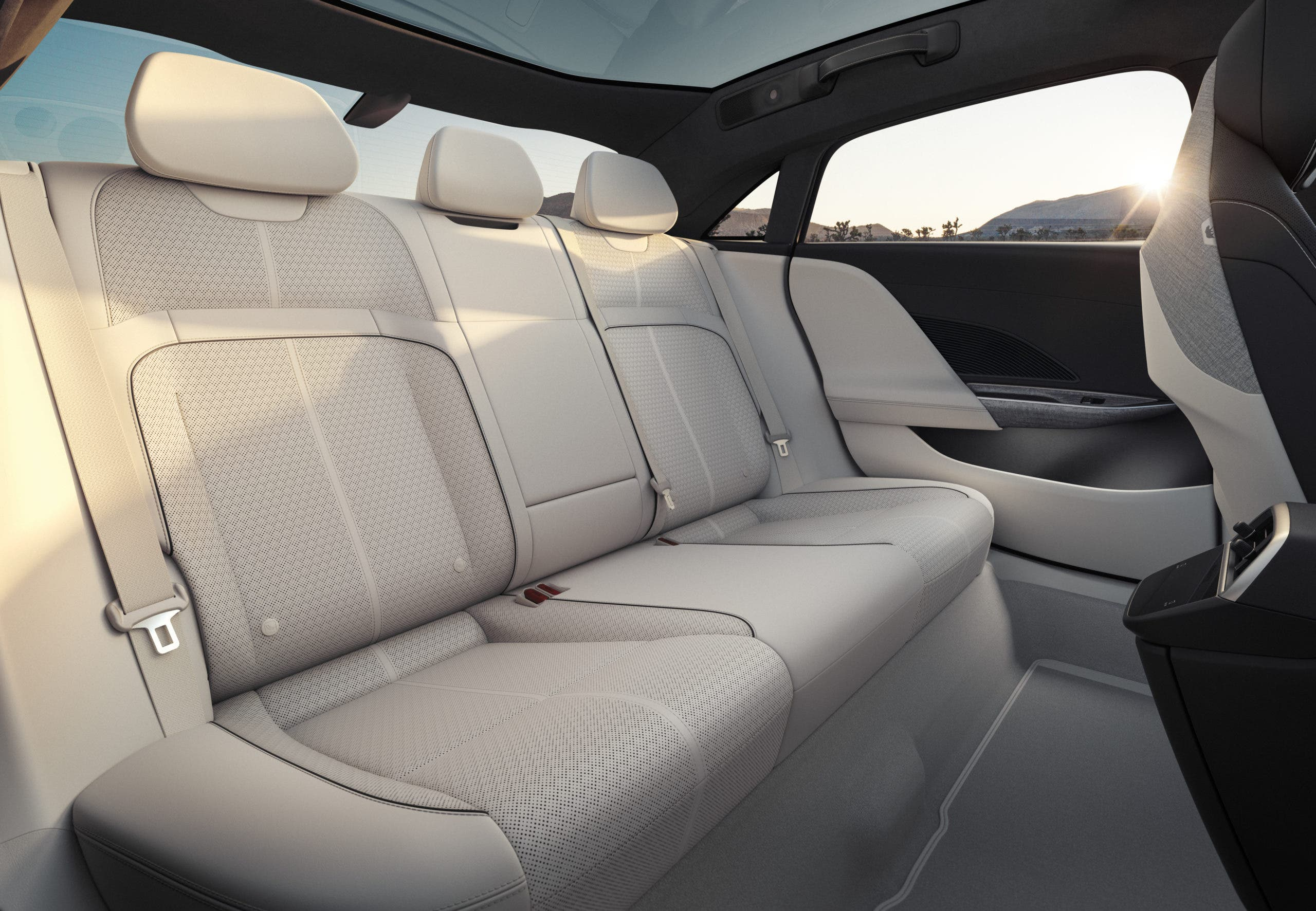 Lucid Air rear seat