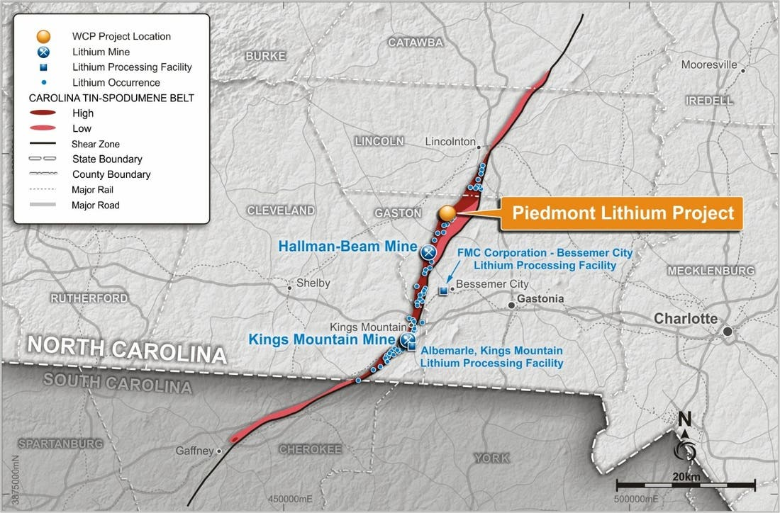 Piedmont Lithium North Carolina
