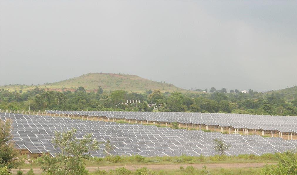 Solar power plant. Photo courtesy RattanIndia.