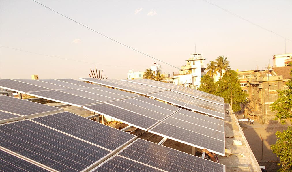 Solar rooftop power plant. Photo courtesy RattanIndia.