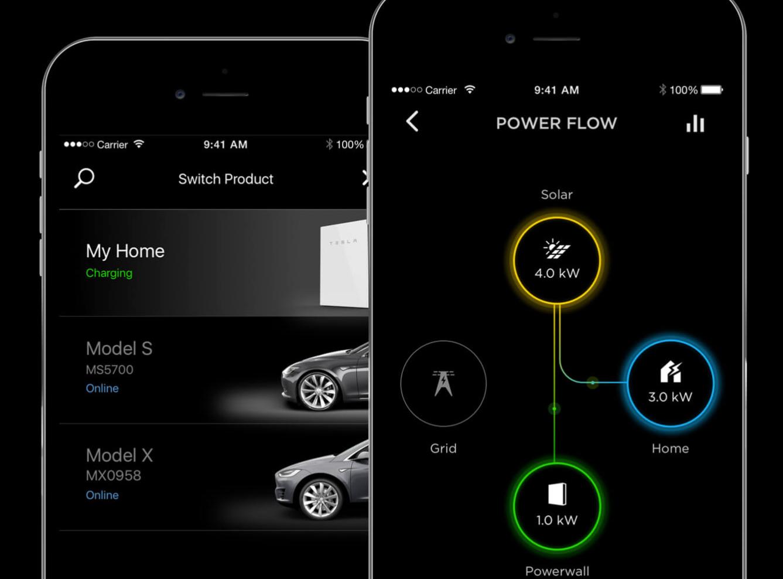 Tesla Solar Panel Car App