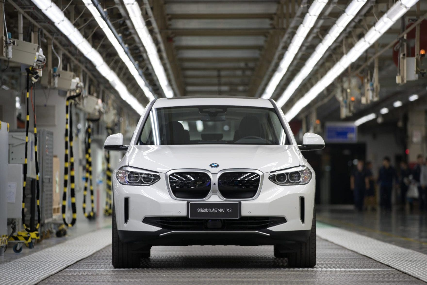 BMW iX3 electric SUV China production line