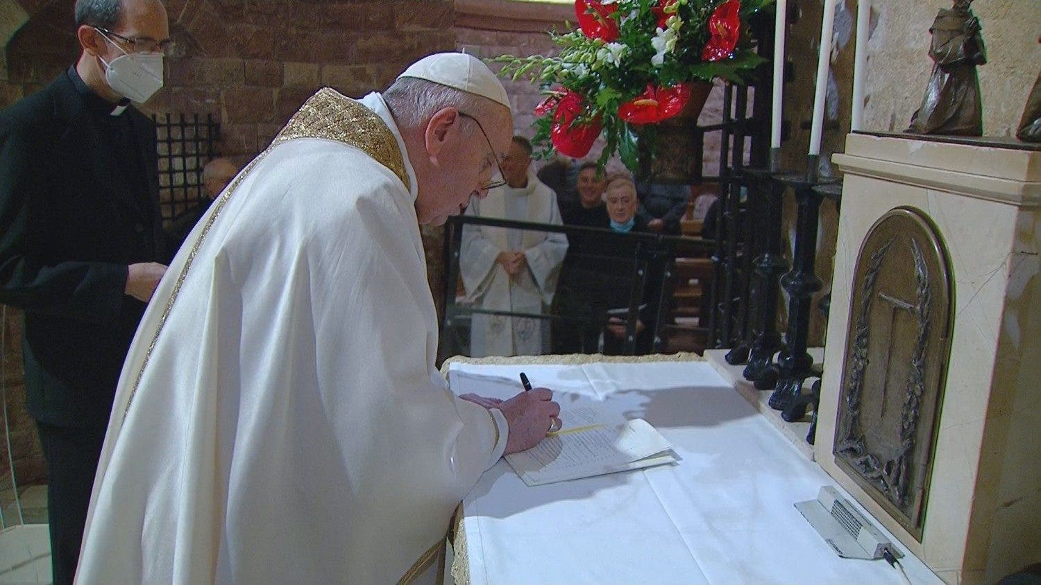 Pope Francis signs encyclical
