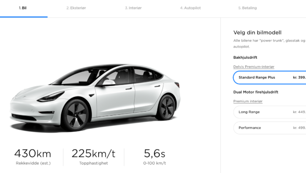photo of Tesla Model 3 Price Drops By $3,300–3,700 In Norway image