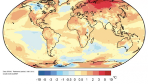Global temperatures 2020 WMO