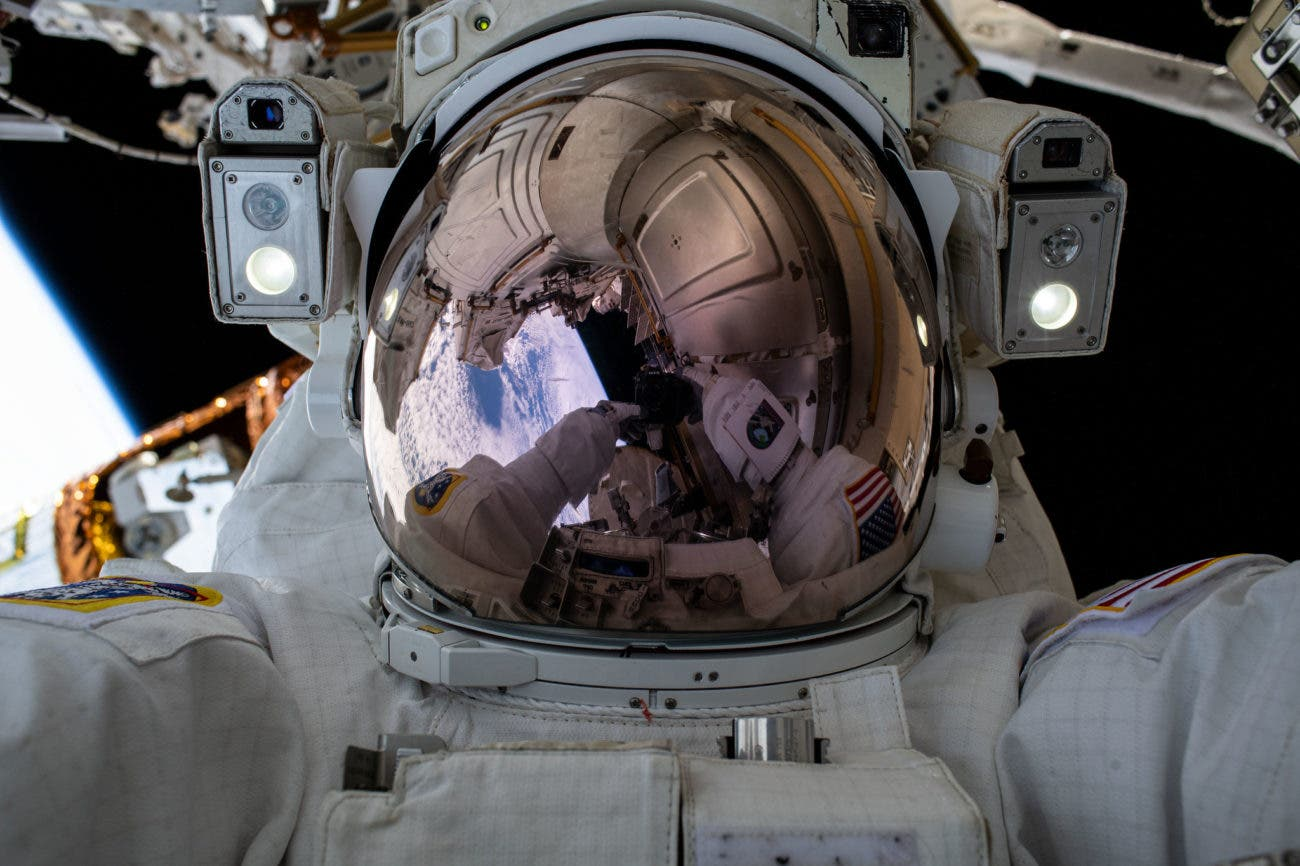 This spot on the International Space Station has stayed dirty