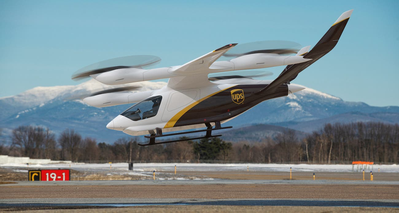 UPS Orders 10 Electric Vertical Takeoff & Landing Aircraft  image