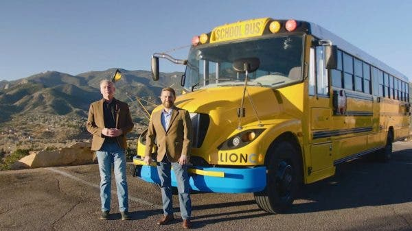 Lion C electric school bus First Student
