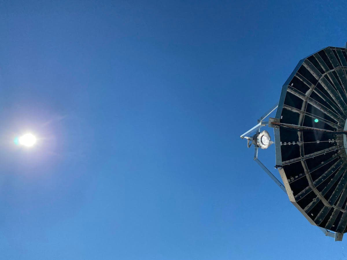 Solarflux FOCUS parabolic dish concentrator concentrated solar energy