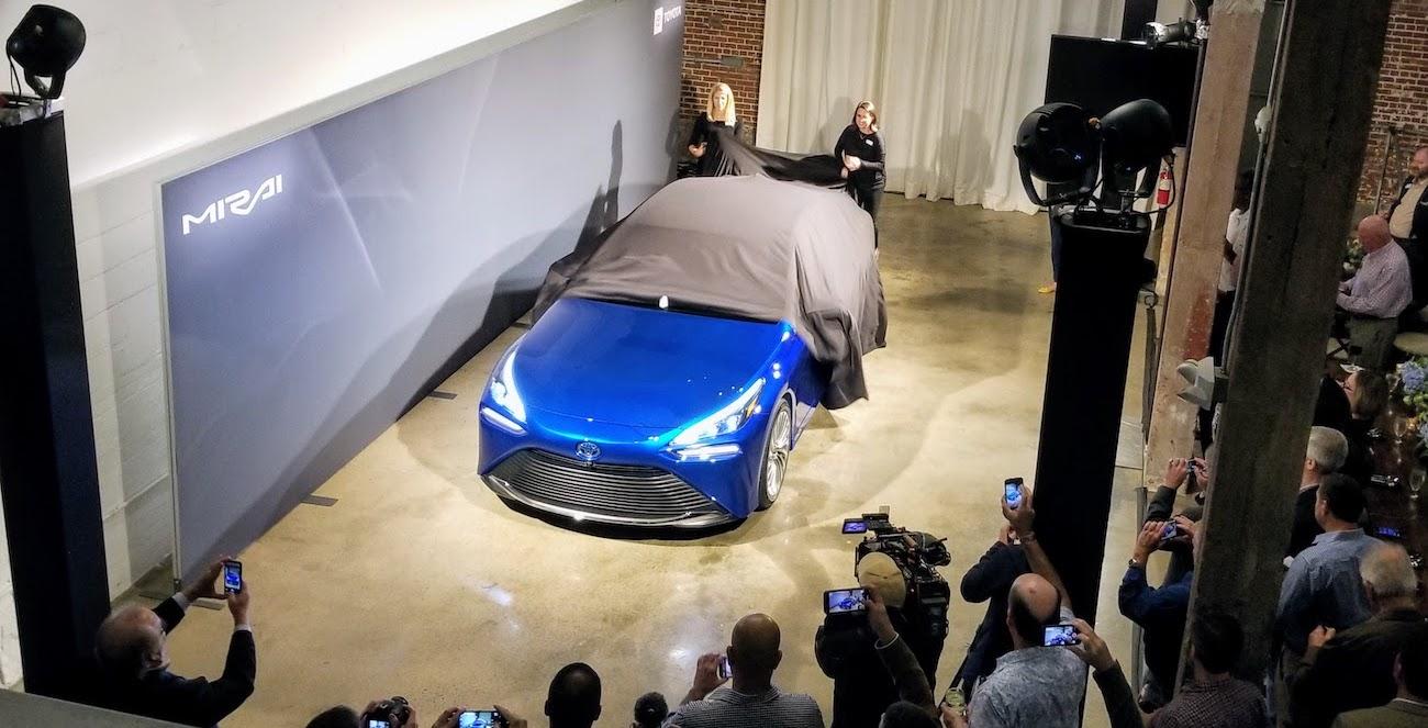 Toyota Mirai hydrogen EV hybrid greenwashing