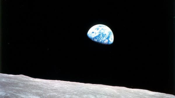 Earth from Space blue marble moon picture
