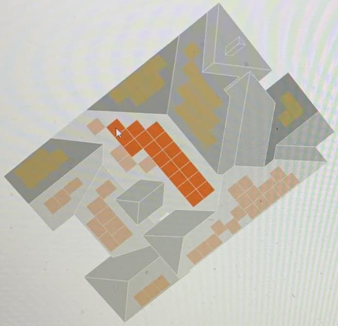 Picture of our roof with potential solar locations
